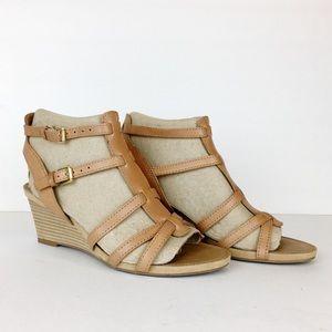 Franco Sarto Doris Leather Wedge Sandal